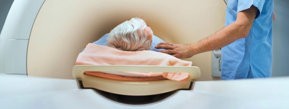 Patient entering into MRI machine